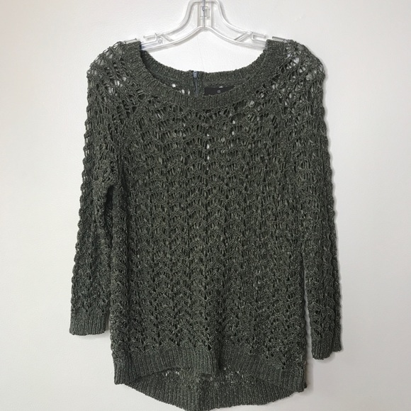 Fenn Wright Manson Sweaters - Fenn Wight Manson Crochet Olive Green Sweater